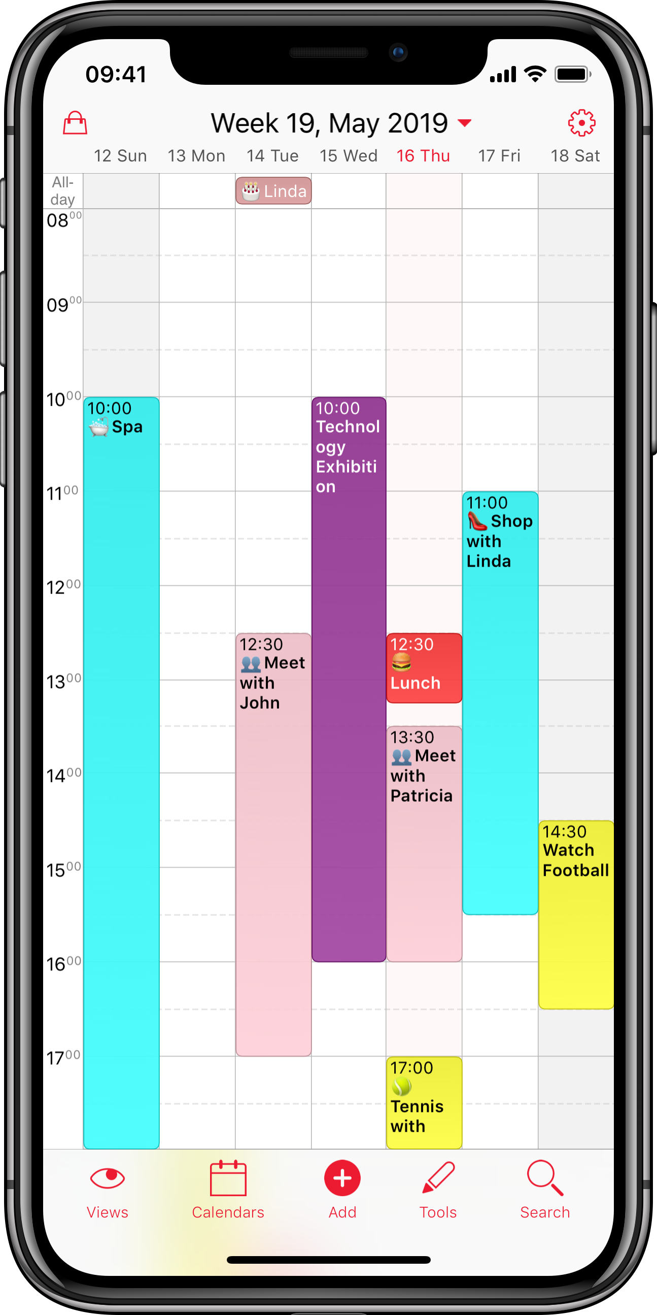 Calendario Con Week 2018.Weekcal Most Powerful Calendar For Iphone Ipad